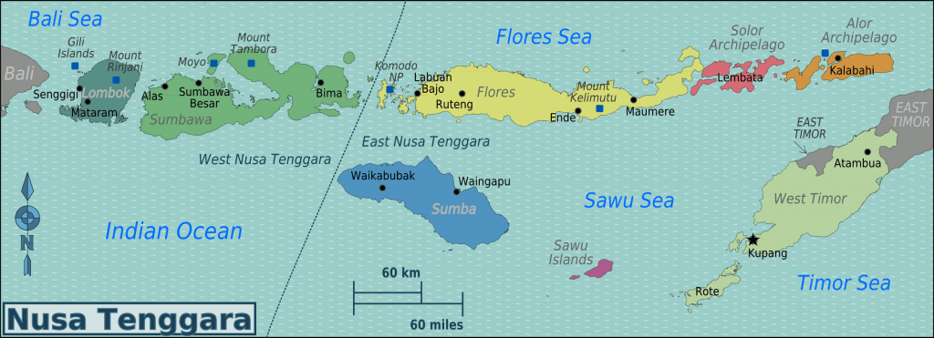 Nusa Tenggara Islands Map