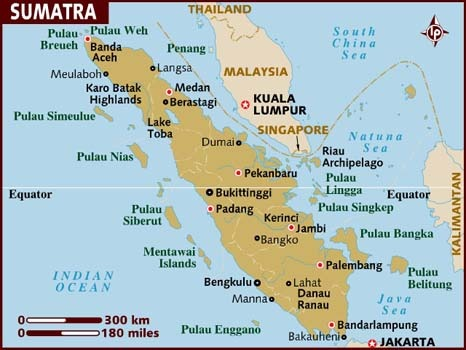 map of sumatra