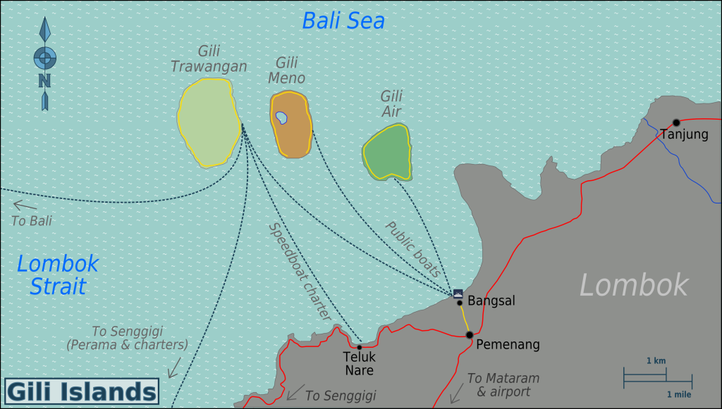 Gili Islands Map