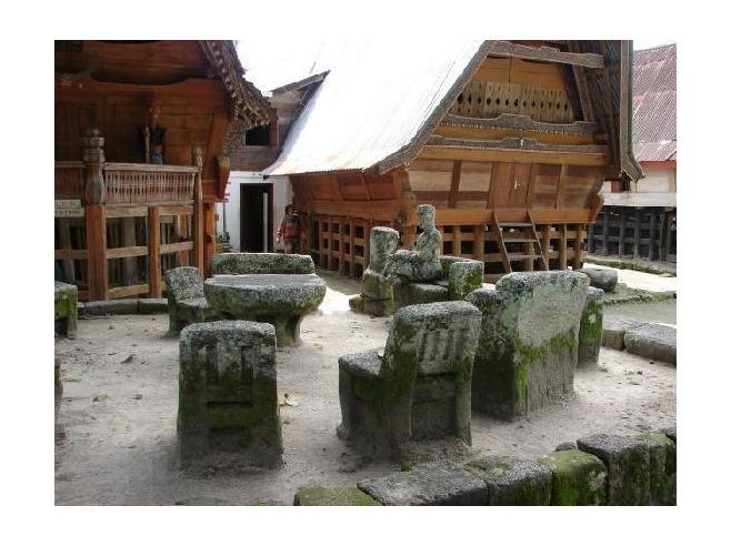 Ambarita stone chairs