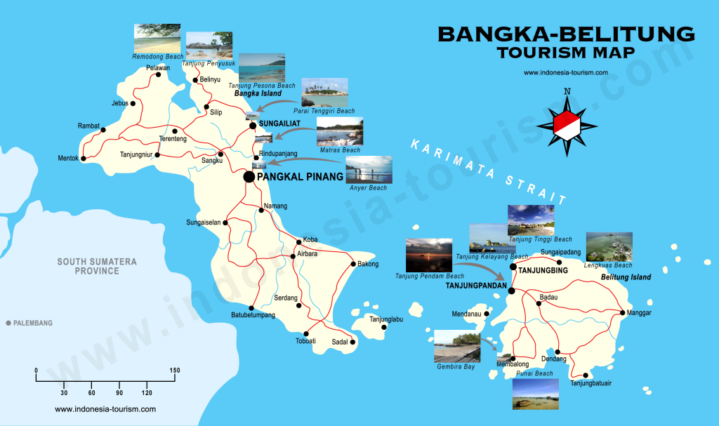 bangka-belitum islands map