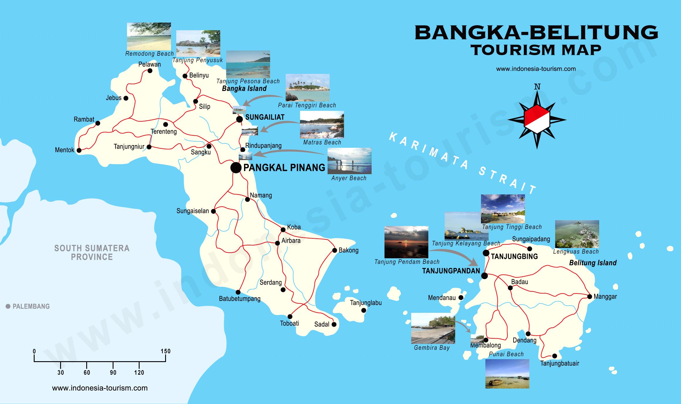 bangka-belitum islands map