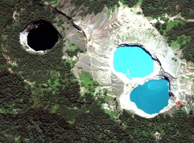Kelimutu Colored Lakes