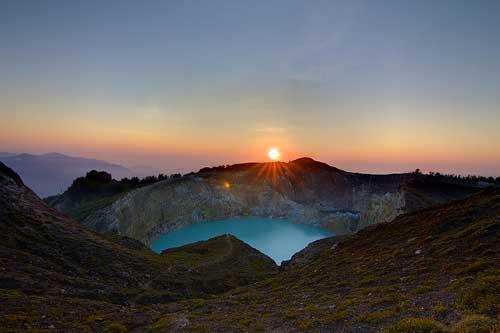Sunrise at Mount Kelimutu